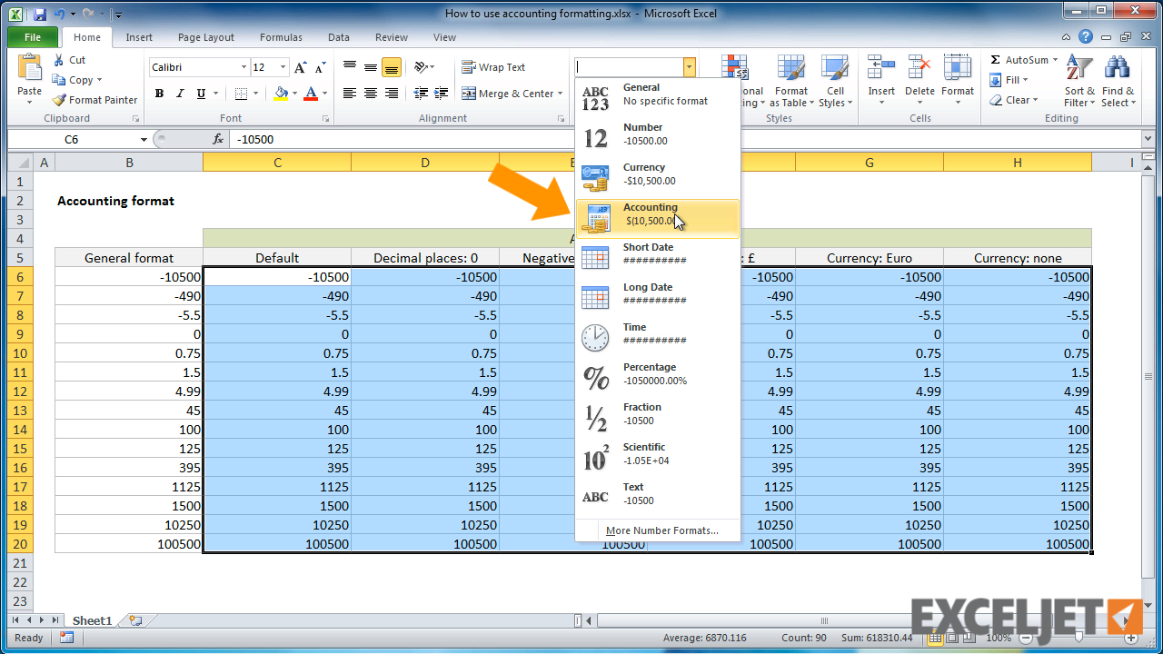 Samples Of Excel Accounting Format Inside Excel Accounting Format Examples