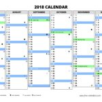 Samples of Excel Calendar Template 2018 With Holidays inside Excel Calendar Template 2018 With Holidays Format