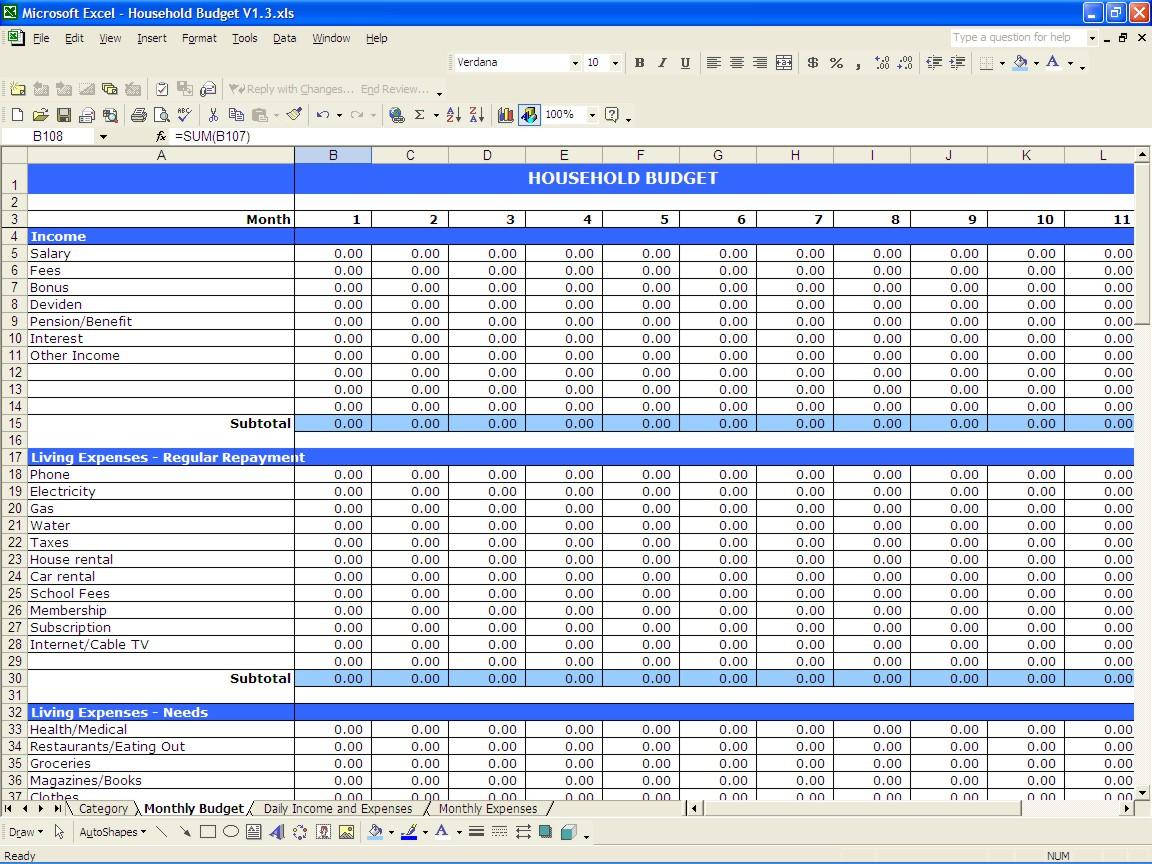 Samples of Excel Financial Worksheet Template with Excel Financial Worksheet Template in Excel
