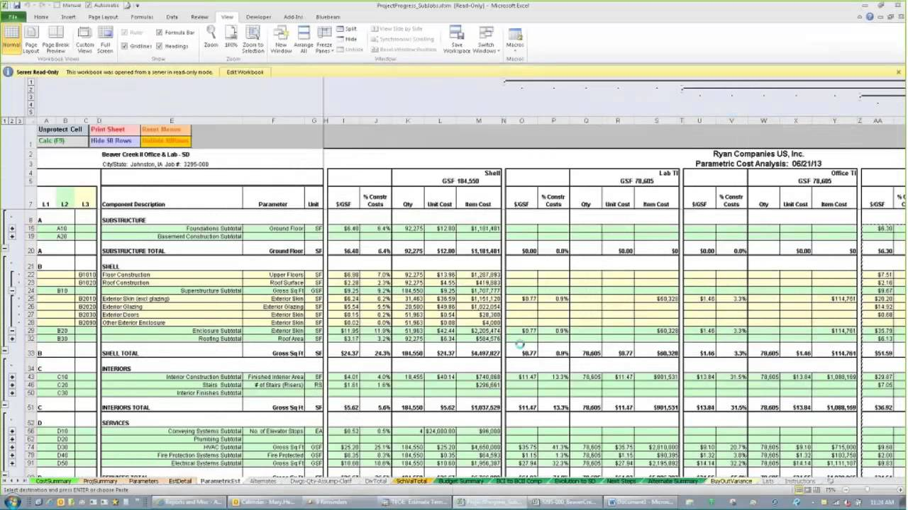 Samples Of Excel Templates For Construction Estimating Intended For Excel Templates For Construction Estimating Xlsx
