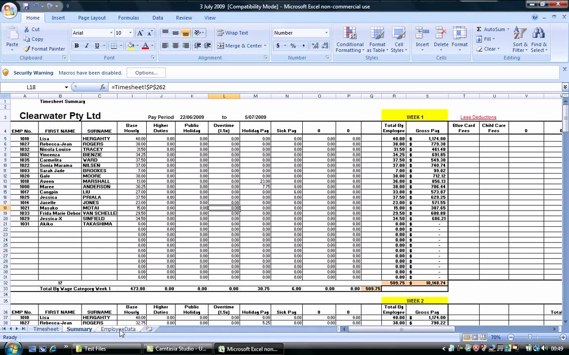 Samples Of Payroll Spreadsheet Template Excel In Payroll Spreadsheet Template Excel Xls