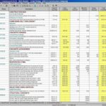 Samples Of Project Spreadsheet Template Excel Inside Project Spreadsheet Template Excel In Excel