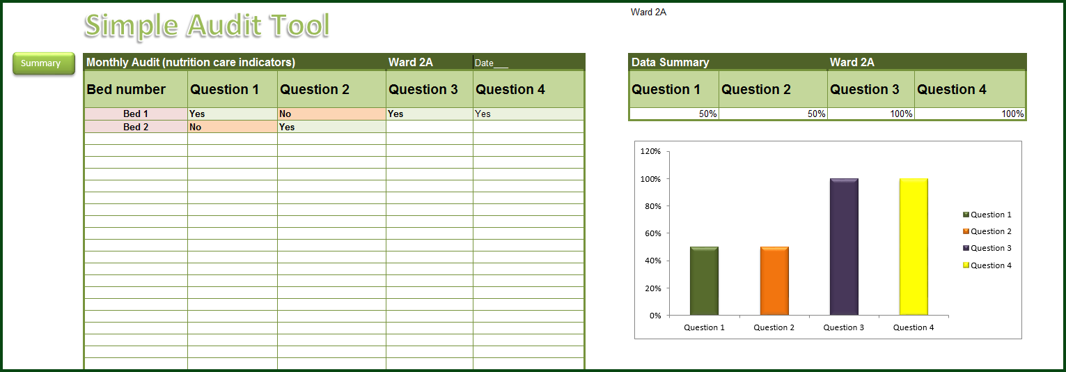 Simple Audit Template Excel Throughout Audit Template Excel Sample