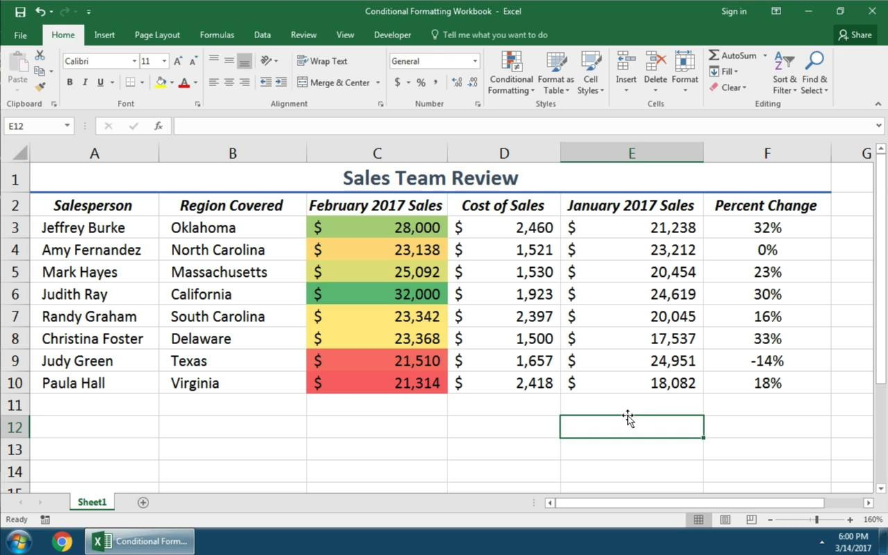 Simple Conditional Formating In Excel Inside Conditional Formating In Excel Sample
