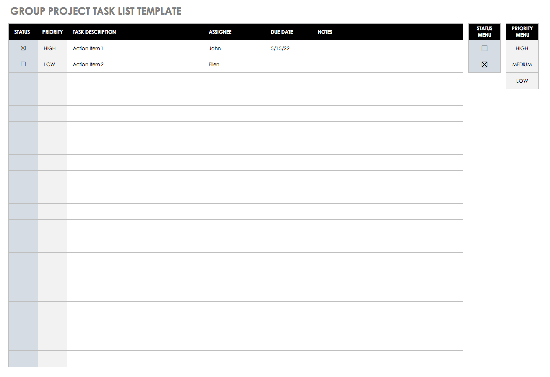 Simple Daily To Do List Template Excel With Daily To Do List Template Excel Free Download
