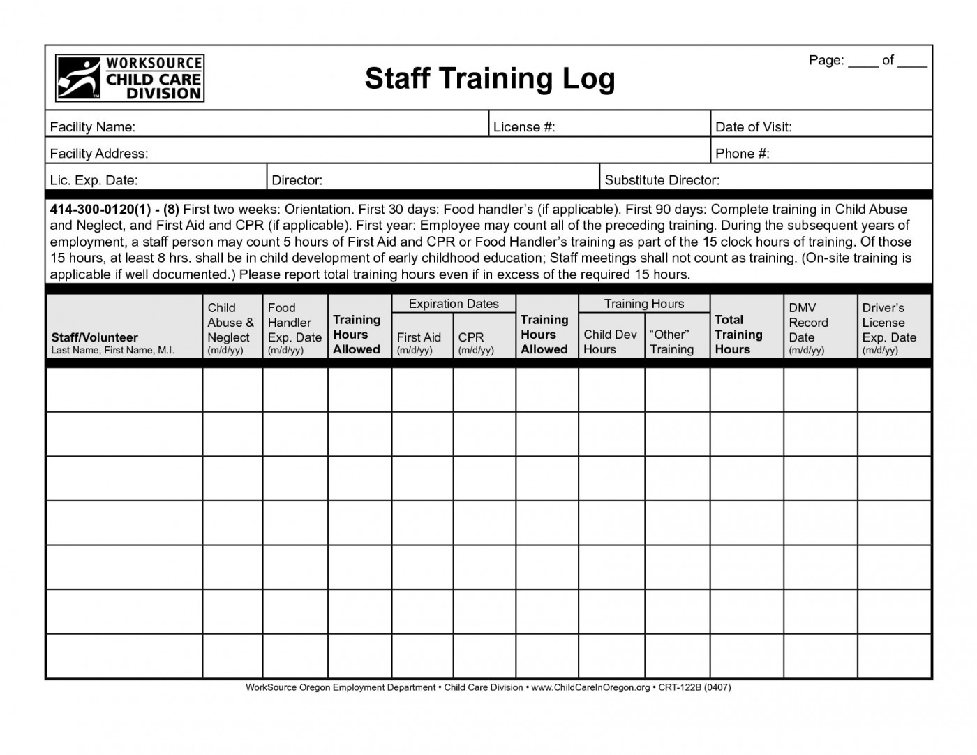Simple Employee Training Record Template Excel In Employee Training Record Template Excel Download