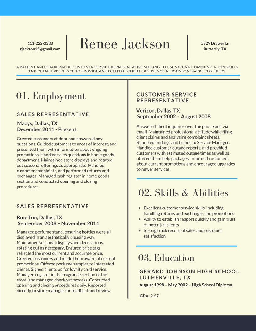 Simple Examples Of Excellent Resumes 2017 With Examples Of Excellent Resumes 2017 In Excel