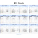 Simple Excel Calendar Template 2018 with Excel Calendar Template 2018 in Excel