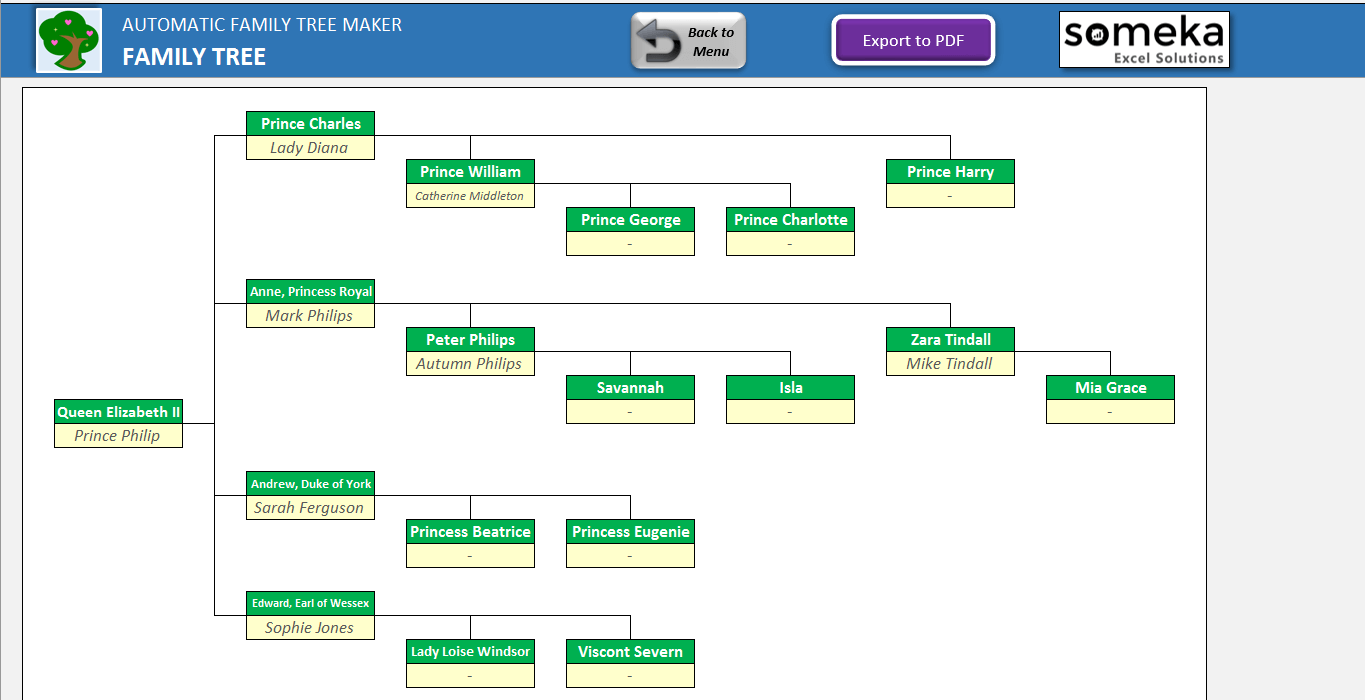Simple Family Tree Template Excel In Family Tree Template Excel Xlsx