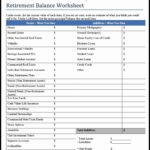 Simple Financial Planning Worksheet Excel In Financial Planning Worksheet Excel Format