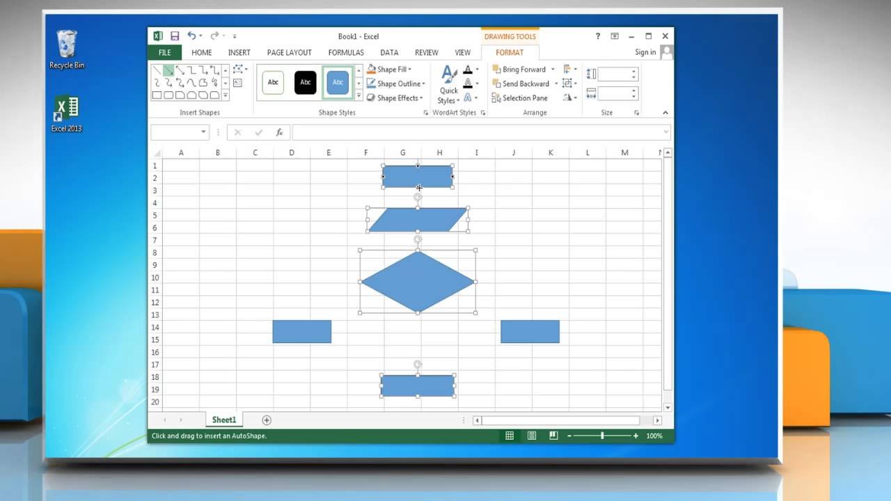 Simple Flow Chart Template Excel 2013 Inside Flow Chart Template Excel 2013 Form