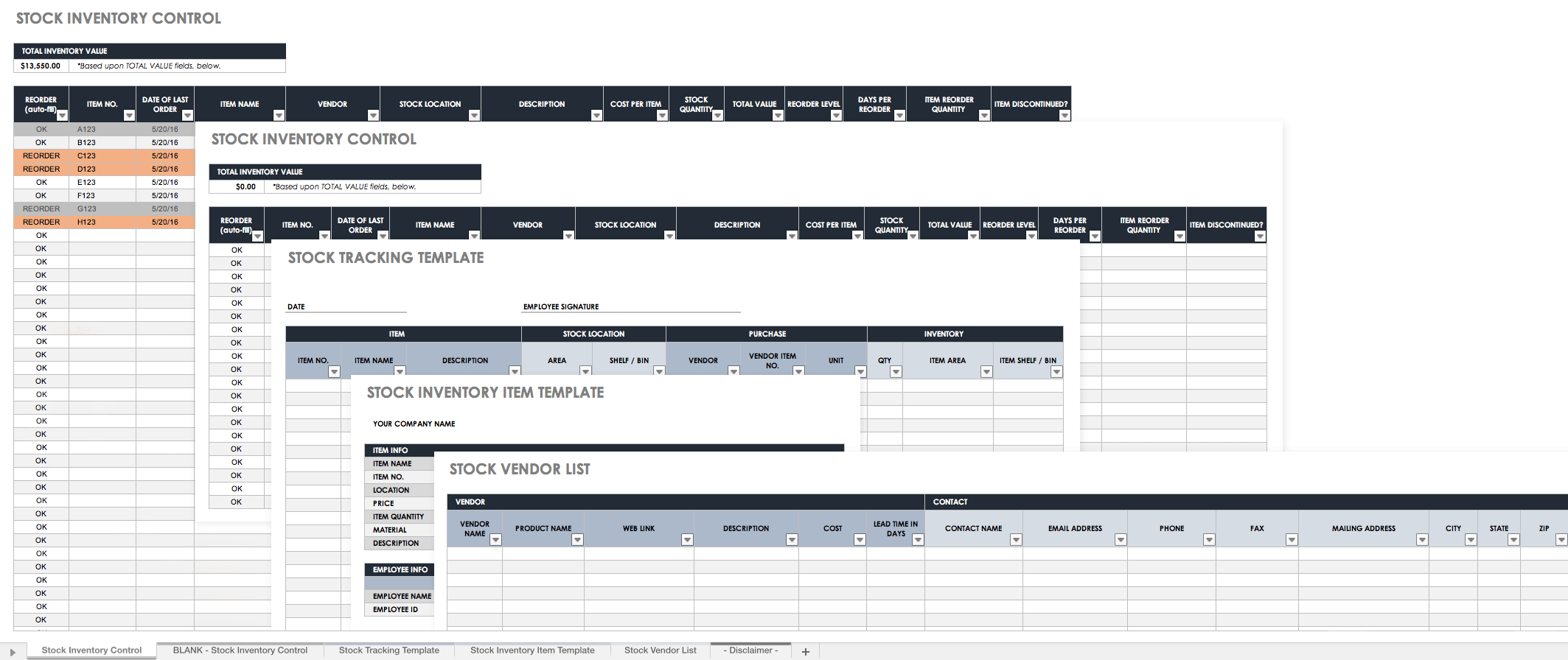 Simple Free Excel Inventory Management Template In Free Excel Inventory Management Template Sheet