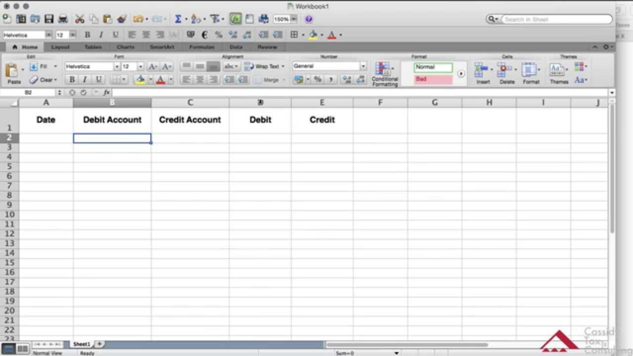 Simple General Ledger Template Excel And General Ledger Template Excel Format