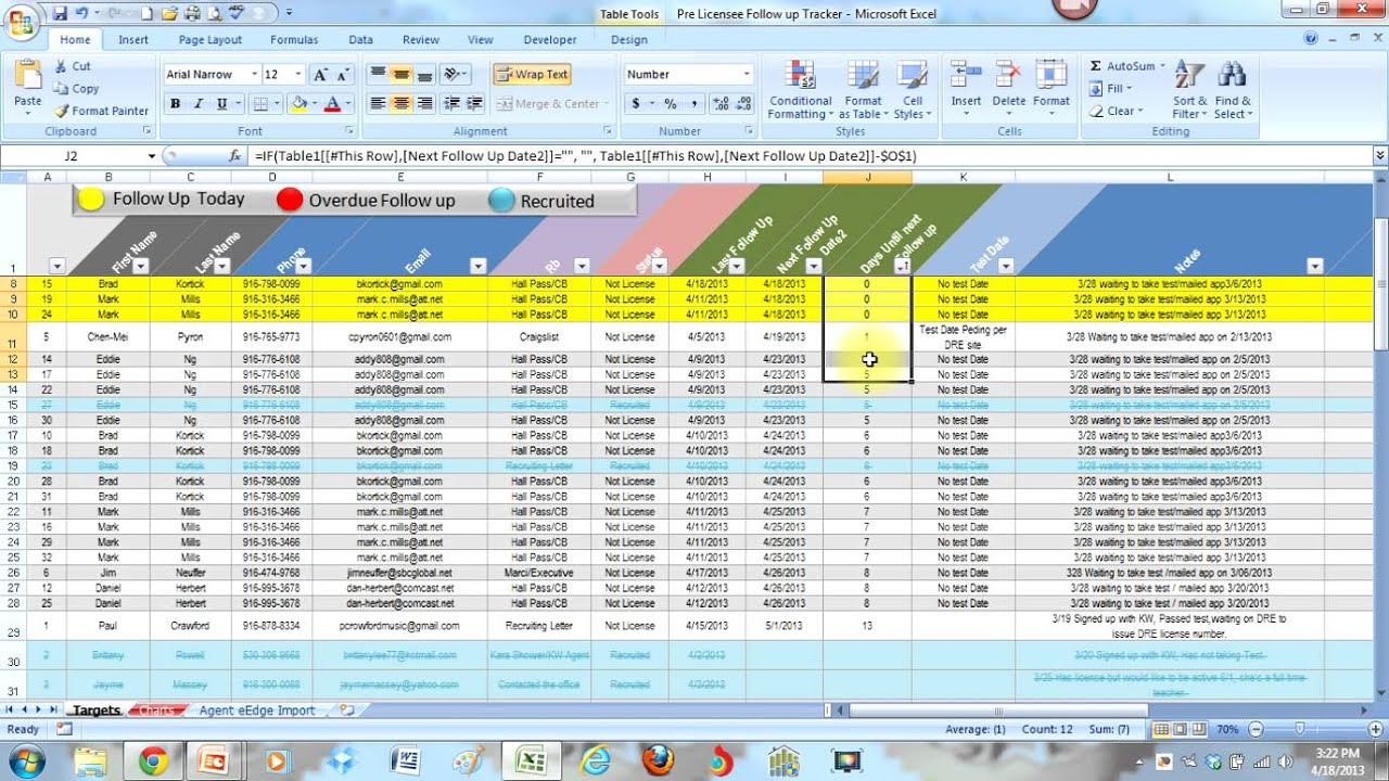 Simple Lead Tracking Excel Template With Lead Tracking Excel Template Example
