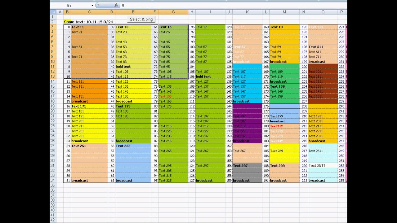 Simple Ping Ip Addresses From Excel Spreadsheet Within Ping Ip Addresses From Excel Spreadsheet Example