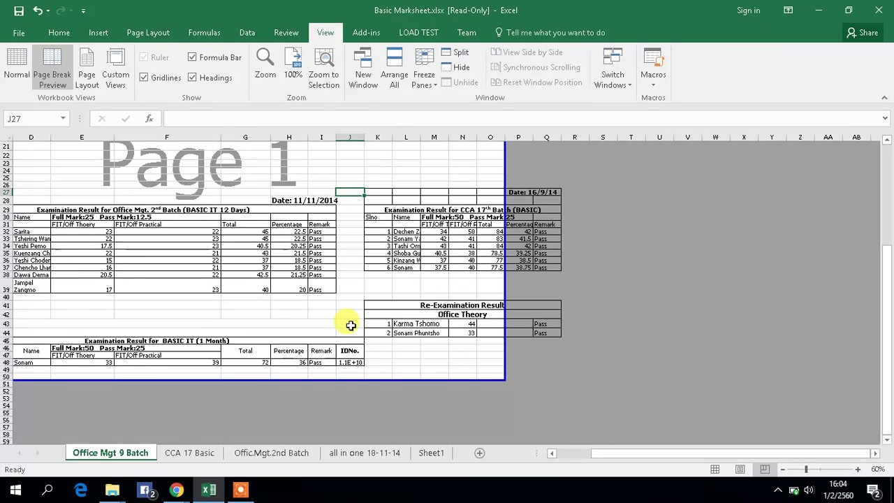 Simple Print Worksheets On One Page Excel Within Print Worksheets On One Page Excel Free Download