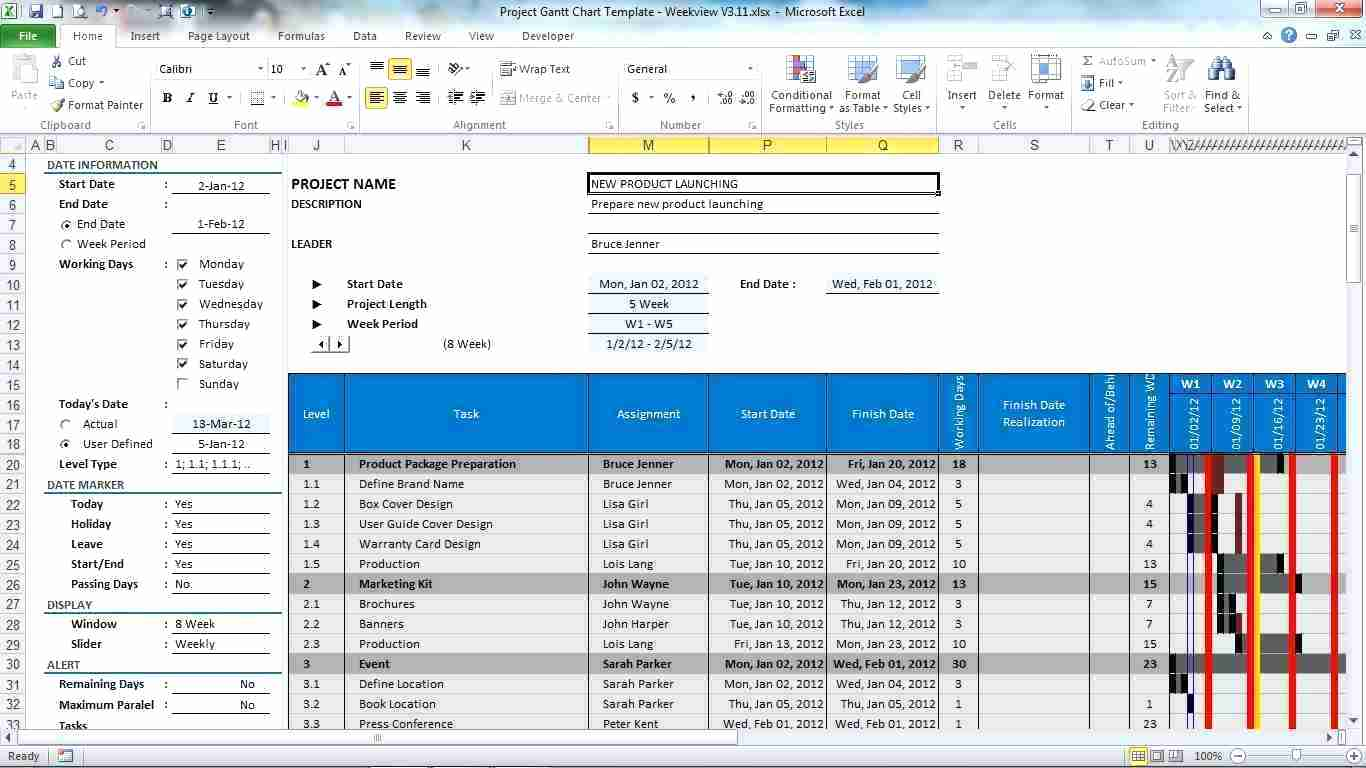 Simple Project Planning Excel Template Free Download Inside Project Planning Excel Template Free Download For Google Sheet