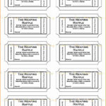 Simple Raffle Ticket Template Excel inside Raffle Ticket Template Excel Free Download
