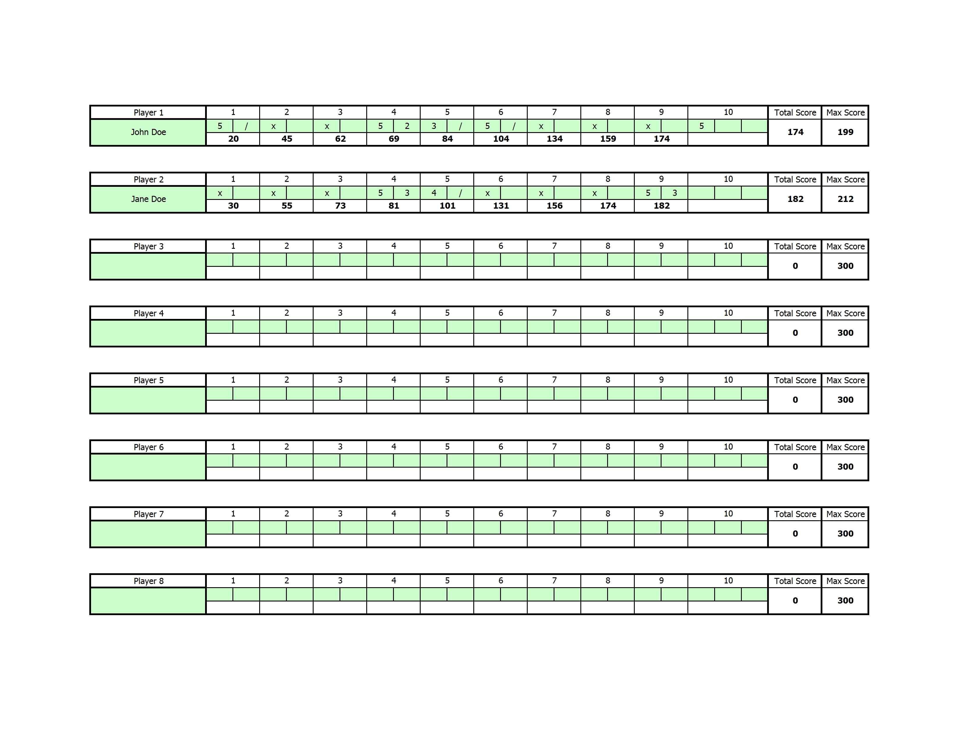 Simple Score Sheet Template Excel To Score Sheet Template Excel Xlsx