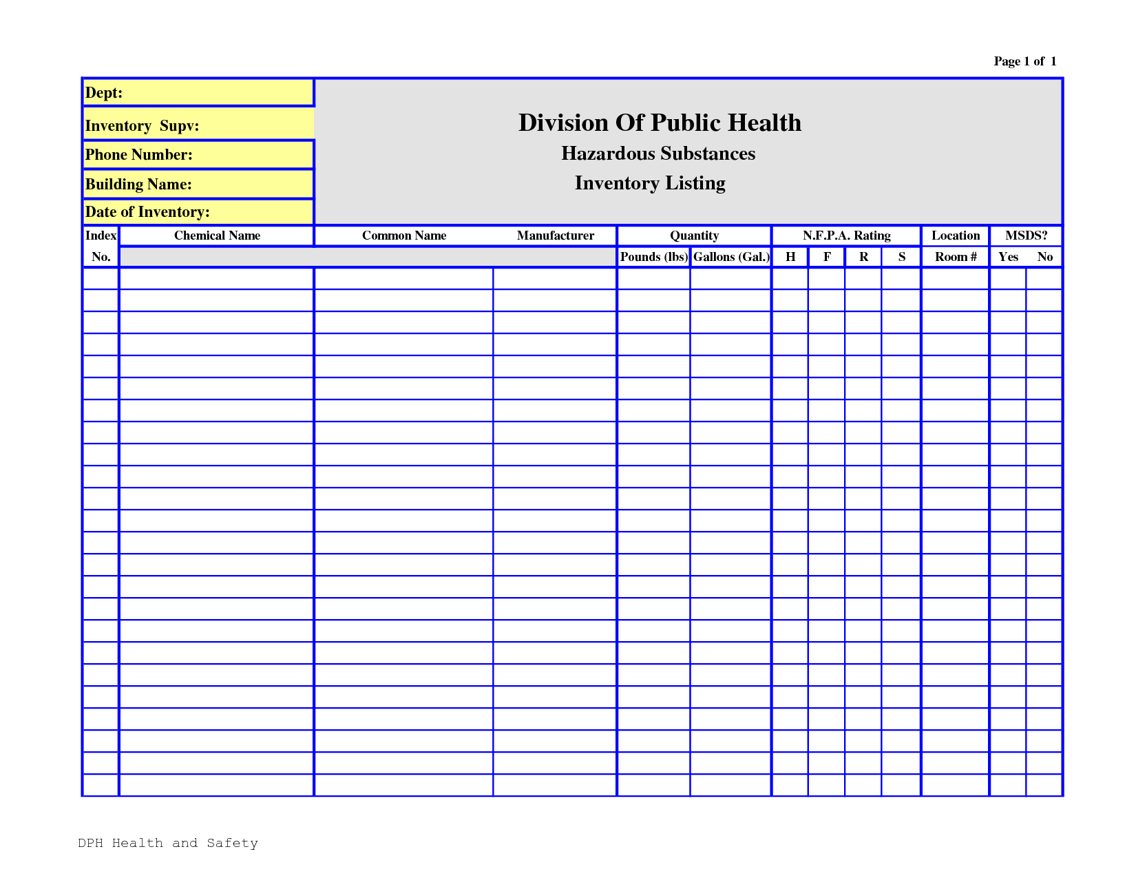 Template For Chemical Inventory Template Excel To Chemical Inventory Template Excel Download