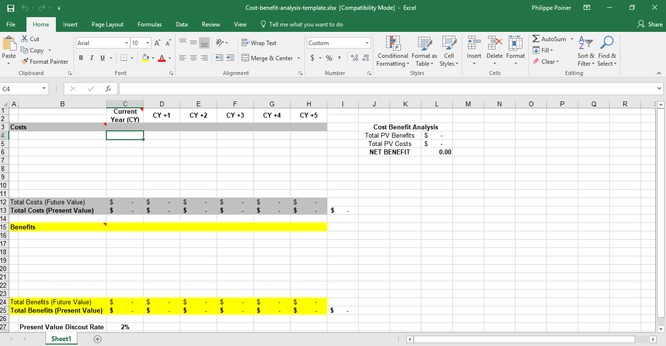 Template For Cost Analysis Template Excel For Cost Analysis Template Excel Sheet