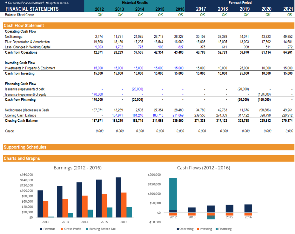 Template For Financial Statement Template Excel Throughout Financial Statement Template Excel Form