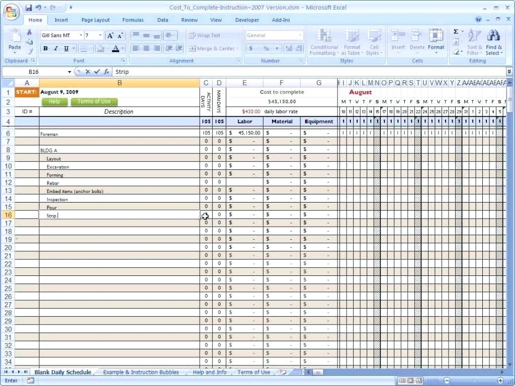 Template For Job Costing Excel Template In Job Costing Excel Template Download For Free