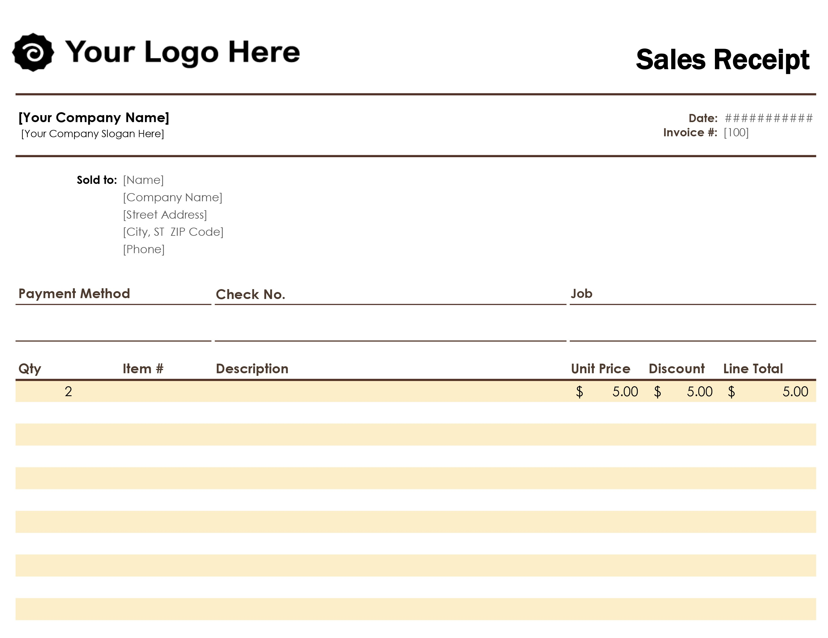 Template For Payment Receipt Template Excel In Payment Receipt Template Excel Xls