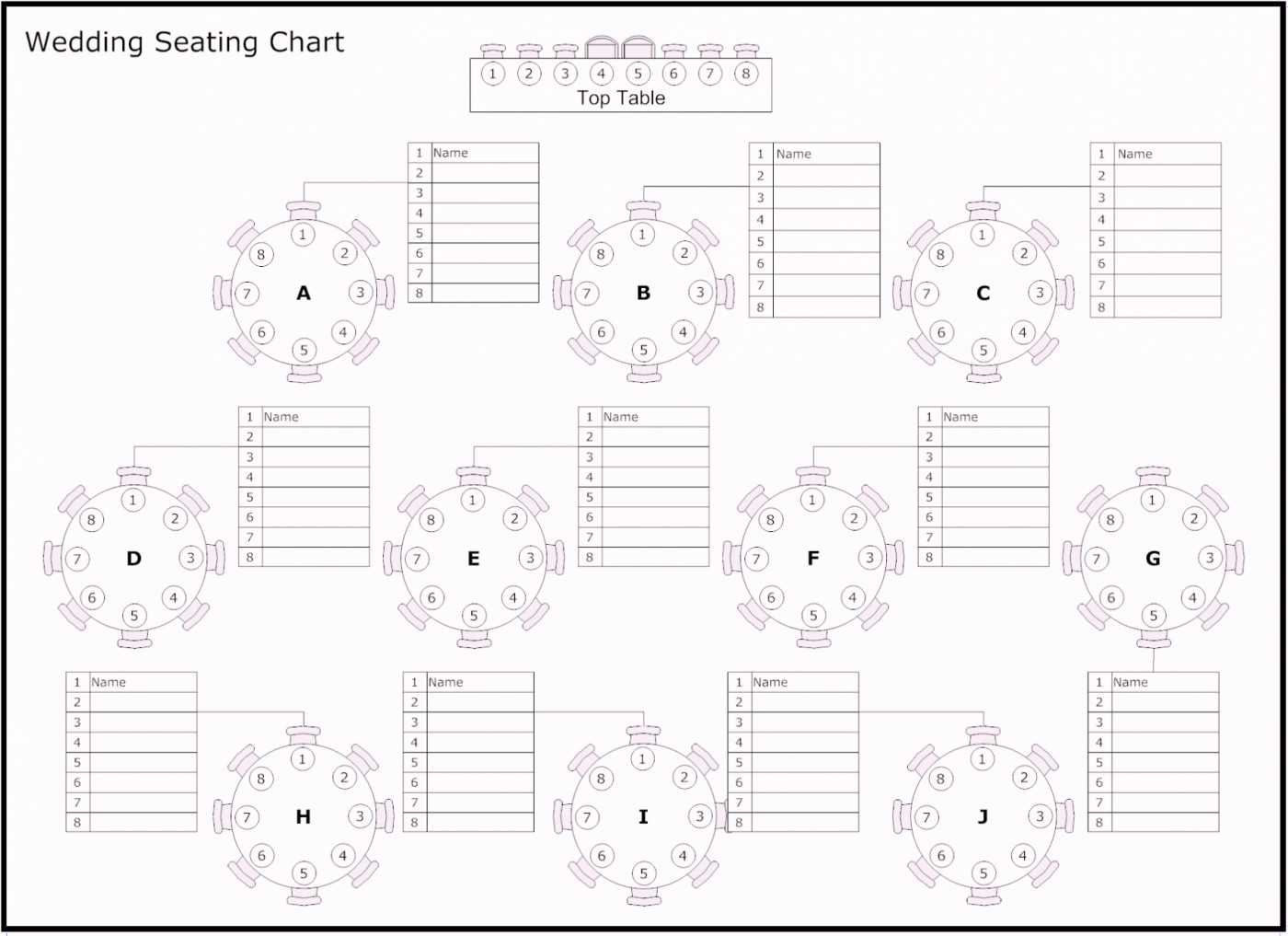 Template For Wedding Seating Chart Template Excel Within Wedding Seating Chart Template Excel Download For Free