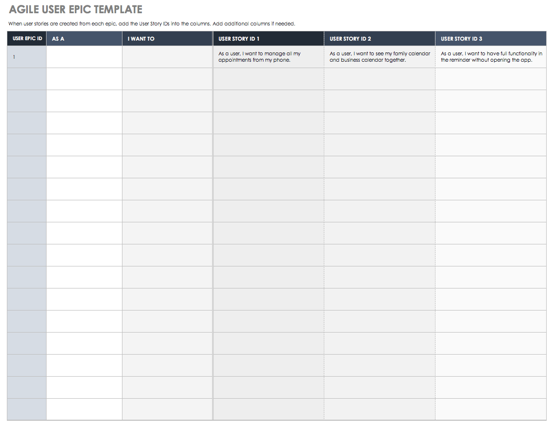 Templates For Agile User Story Template Excel With Agile User Story Template Excel For Google Spreadsheet