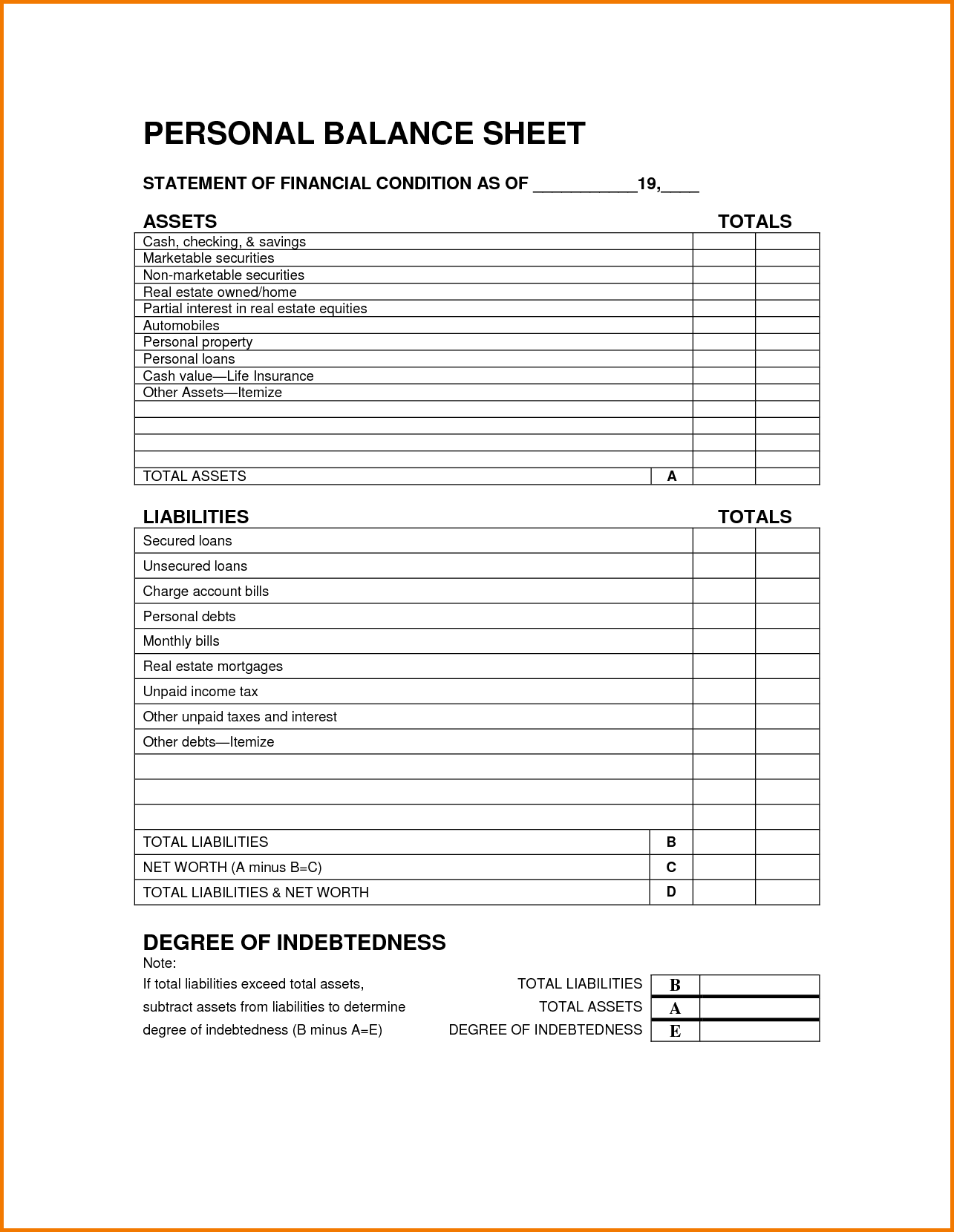 Templates For Balance Sheet Template Excel Free Download And Balance Sheet Template Excel Free Download Templates