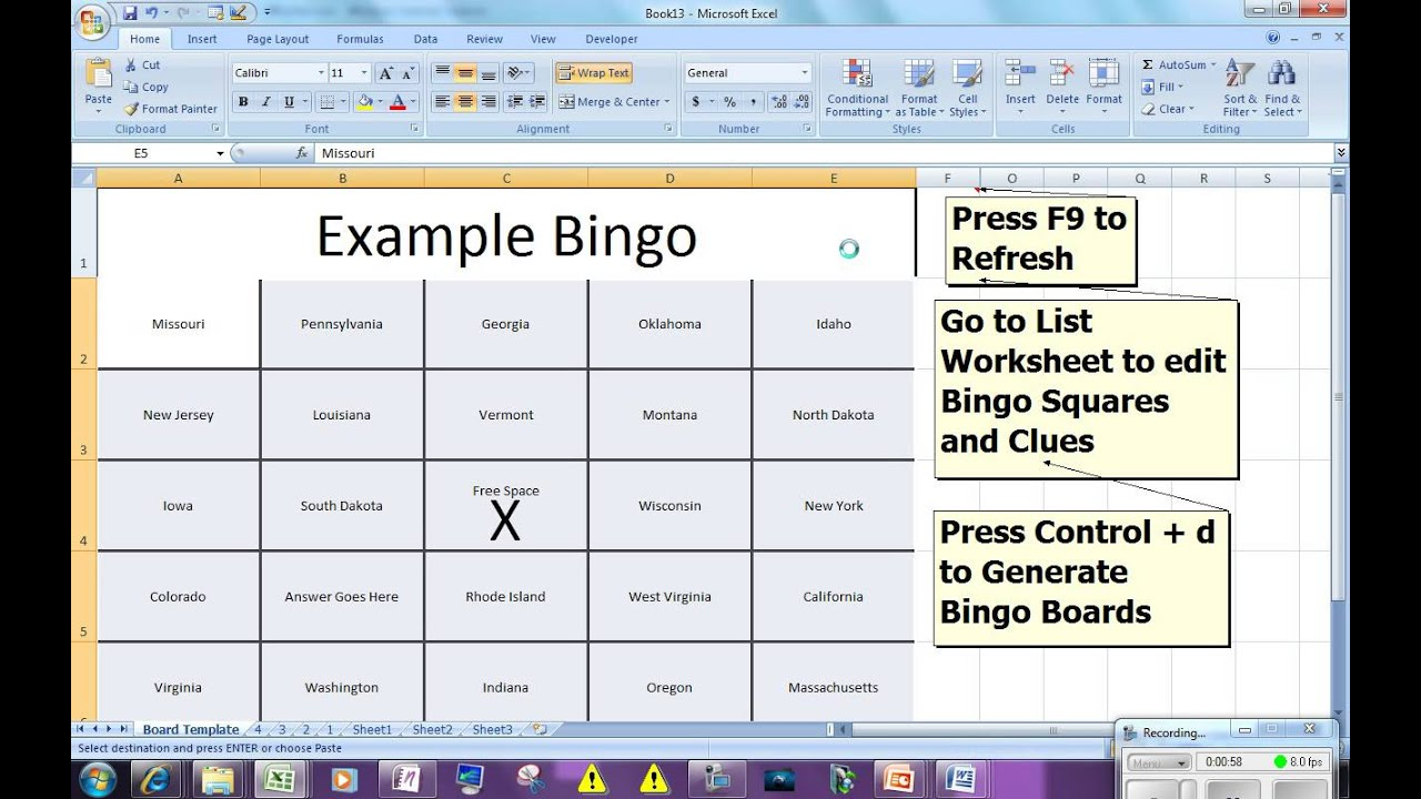 Templates For Bingo Template Excel With Bingo Template Excel Download For Free