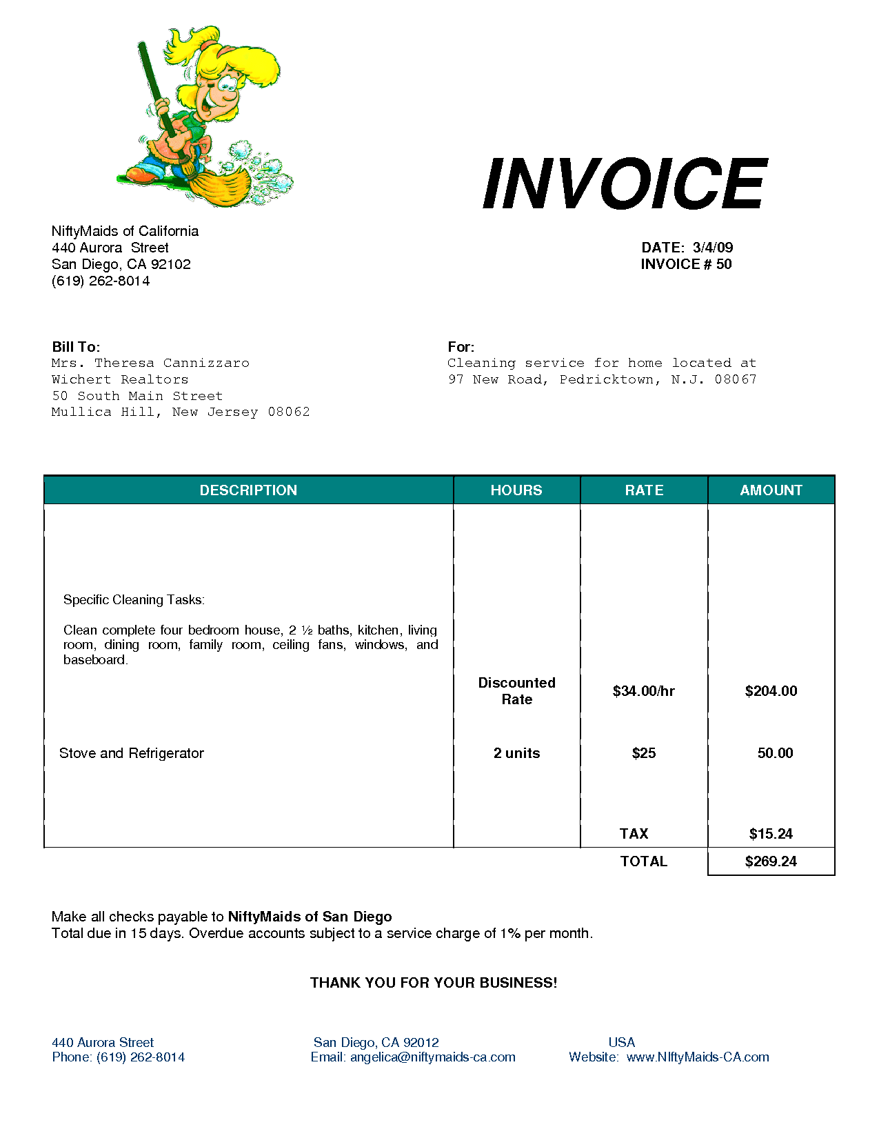 Templates For Cleaning Invoice Template Excel Within Cleaning Invoice Template Excel In Workshhet