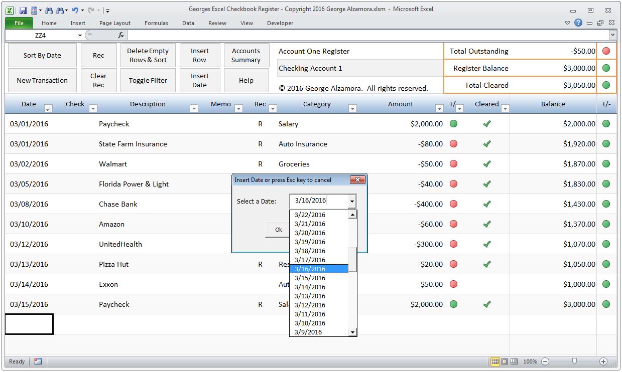 Templates for Excel Checkbook Register Budget Worksheet within Excel Checkbook Register Budget Worksheet xls