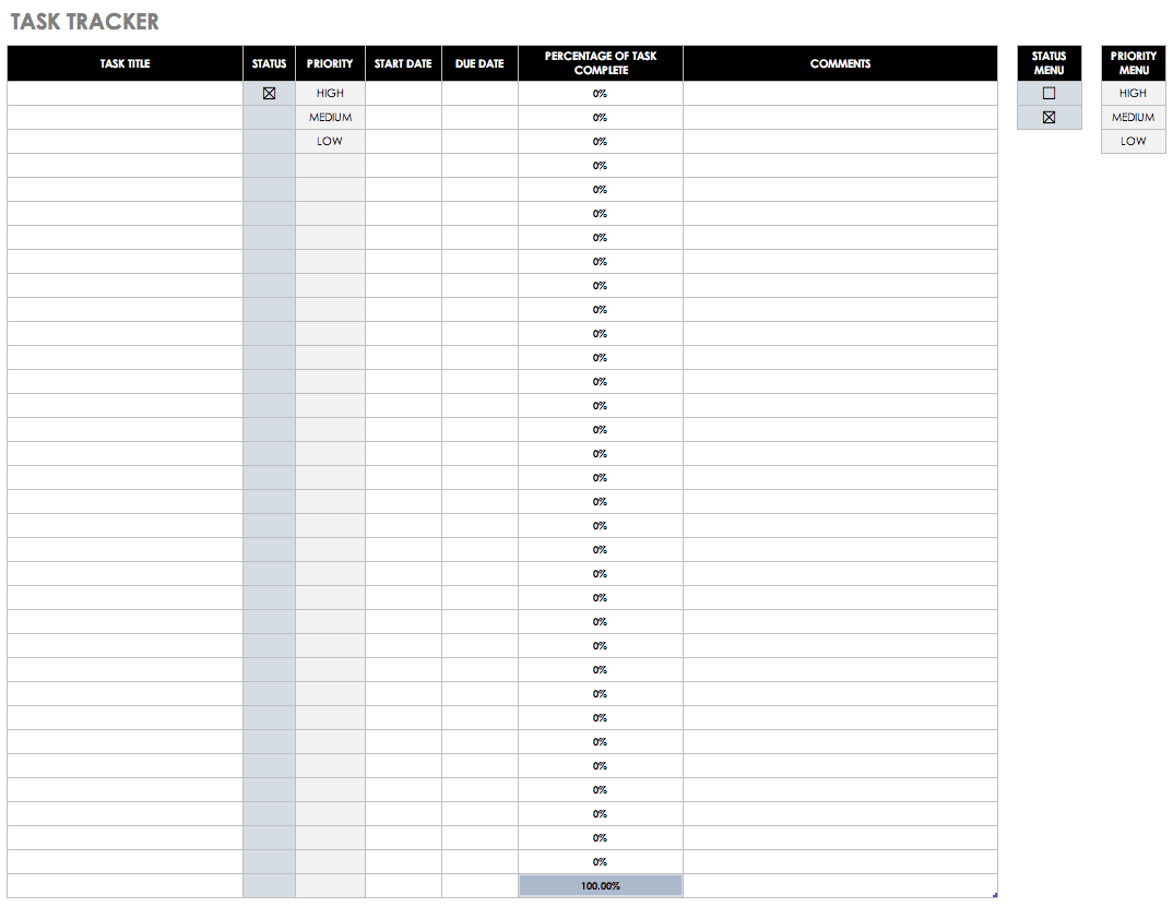 Templates For Excel Task Tracker Template And Excel Task Tracker Template Form