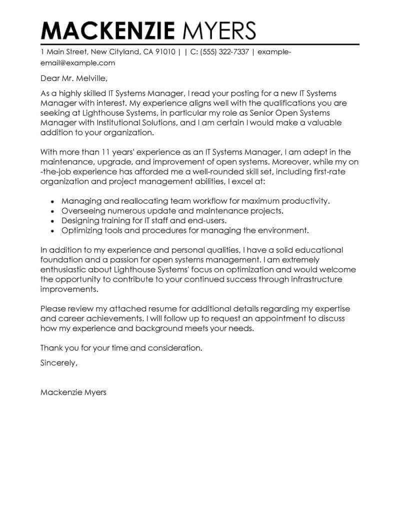 Templates For Excellent Cover Letter Example And Excellent Cover Letter Example Download