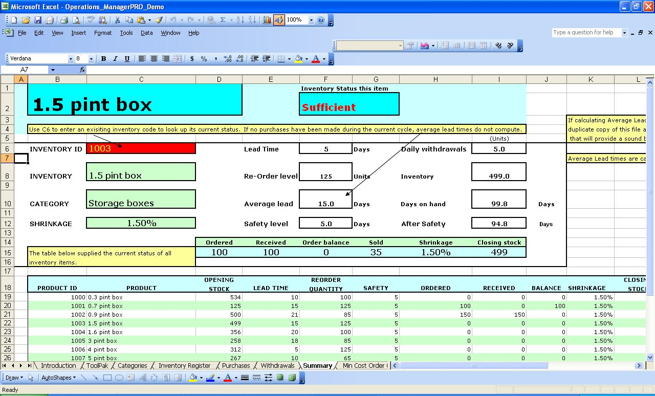 Templates For Free Excel Templates For Inventory Management Intended For Free Excel Templates For Inventory Management Download For Free
