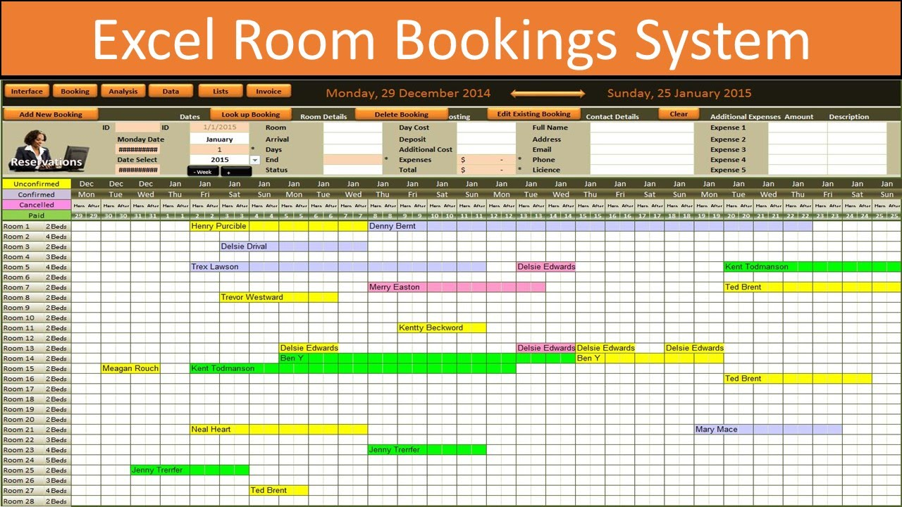 Templates For Hotel Room Booking Format In Excel Inside Hotel Room Booking Format In Excel Example
