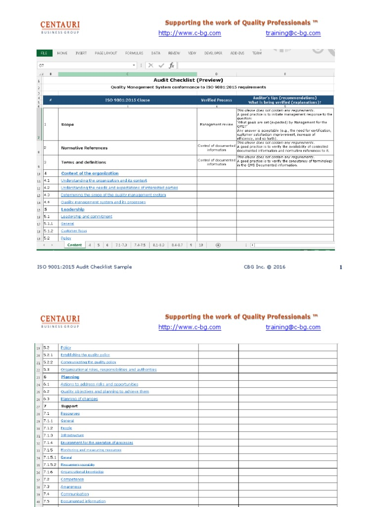 Templates For Iso 9001 2015 Checklist Excel Template With Iso 9001 2015 Checklist Excel Template Download