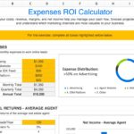 Templates for Marketing Roi Template Excel throughout Marketing Roi Template Excel for Google Spreadsheet