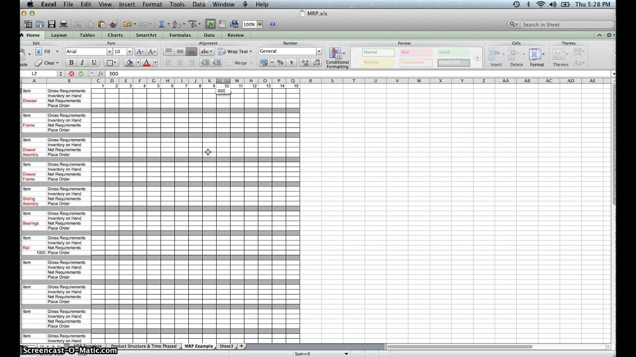 Templates For Material Requirement Planning Excel Template Inside Material Requirement Planning Excel Template Examples