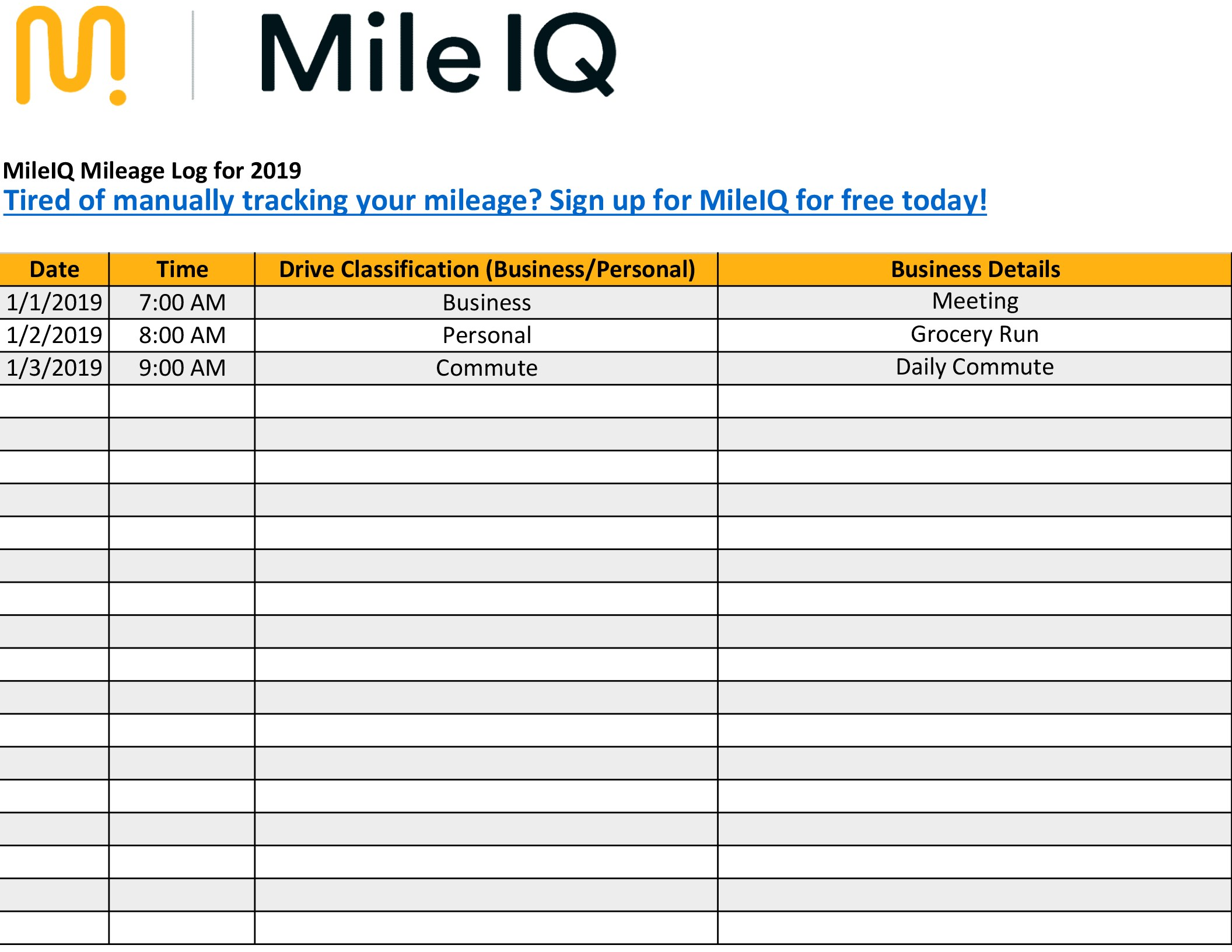 Templates For Mileage Template Excel Intended For Mileage Template Excel Document