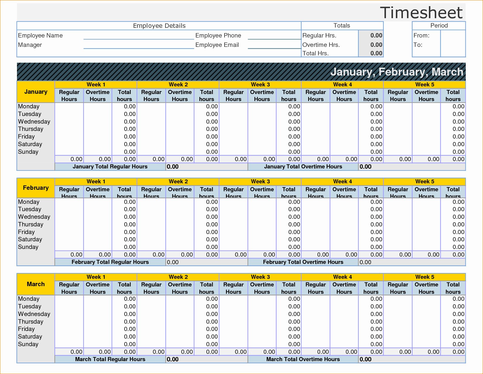 Templates For Monthly Timesheet Format In Excel Inside Monthly Timesheet Format In Excel For Google Sheet