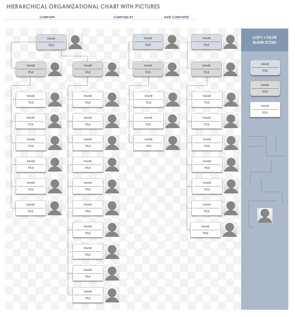 Templates For Organization Chart Template Excel Within Organization Chart Template Excel Printable