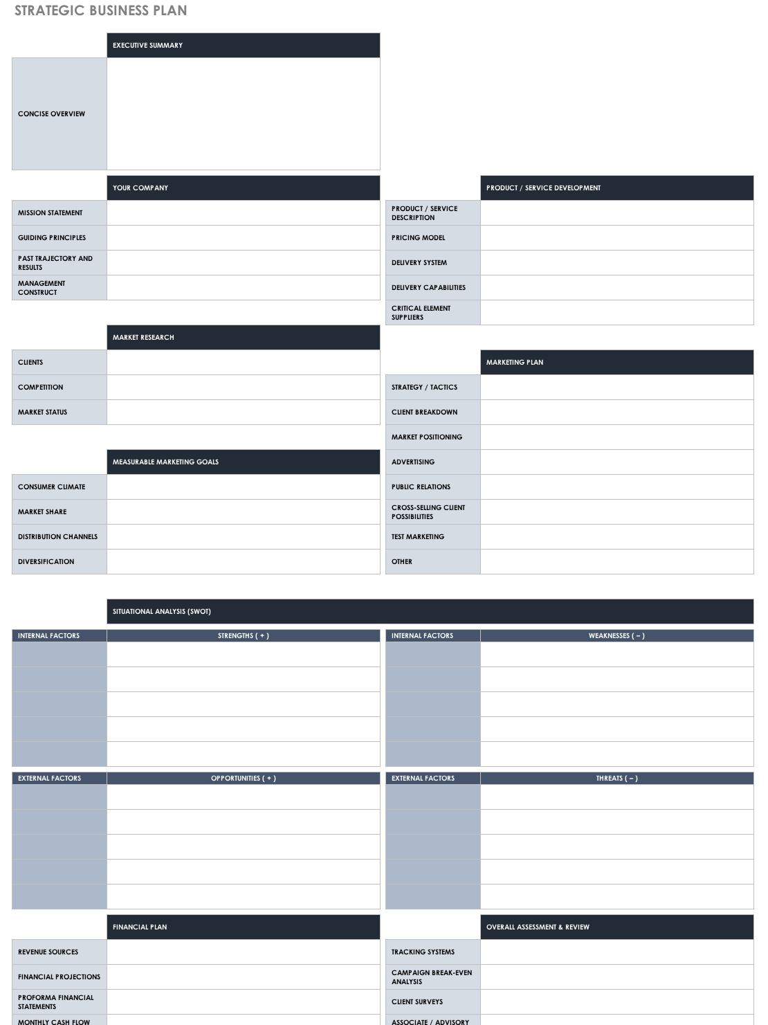 Templates For Strategic Plan Template Excel Inside Strategic Plan Template Excel Xlsx