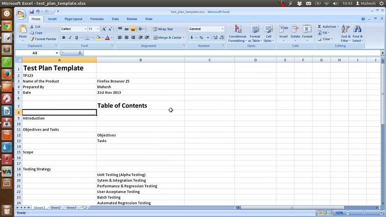 Templates For Test Plan Template Excel Within Test Plan Template Excel Letters