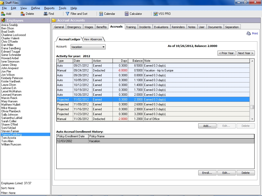 Templates For Time Off Accrual Spreadsheet With Time Off Accrual Spreadsheet Samples
