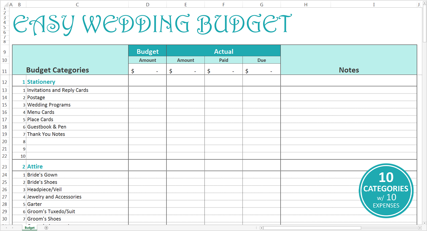 Templates For Wedding Budget Excel Spreadsheet With Wedding Budget Excel Spreadsheet Letters