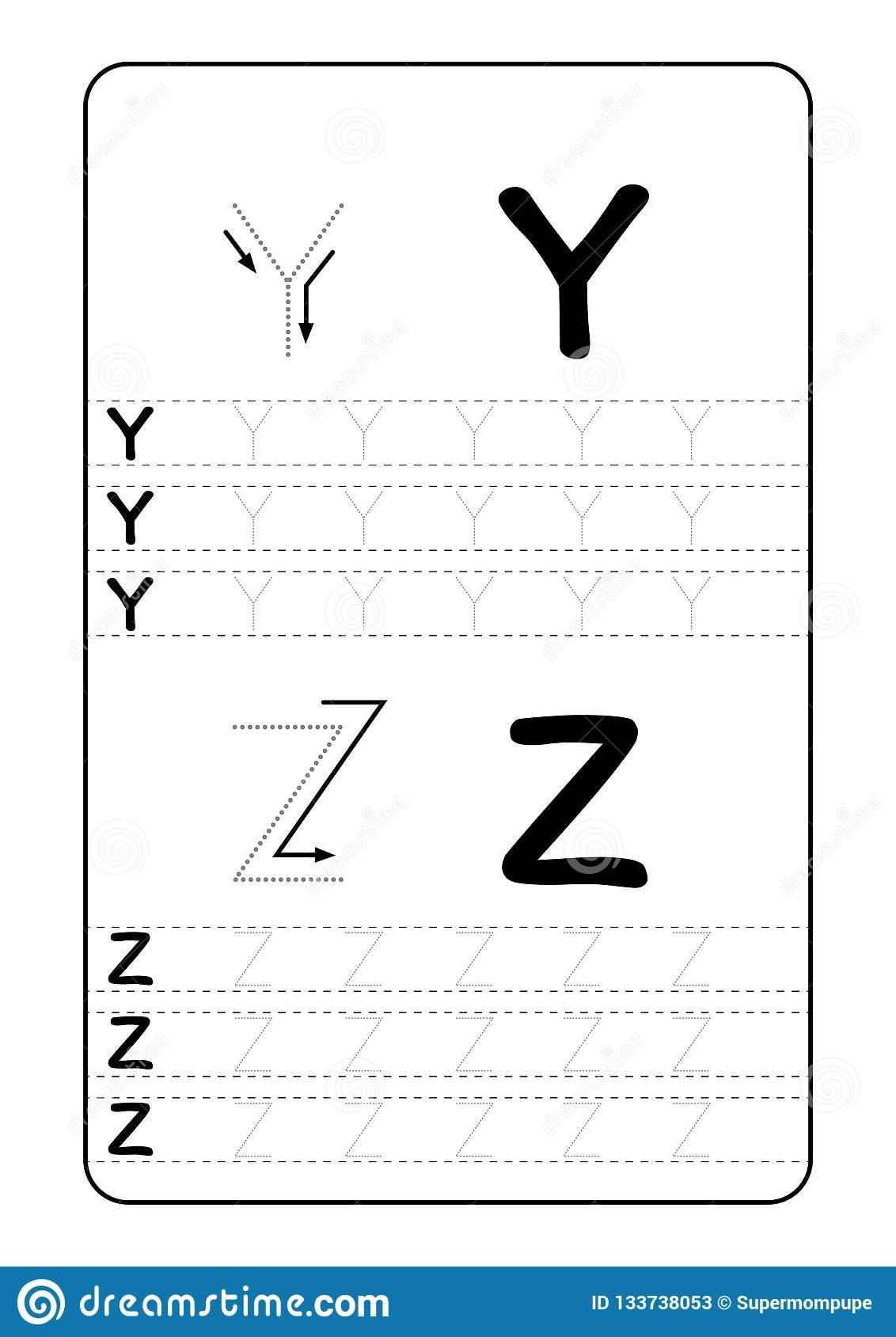 Abc Alphabet Letters Tracing Worksheet With Alphabet Letters Basic For Abc Writing Worksheet