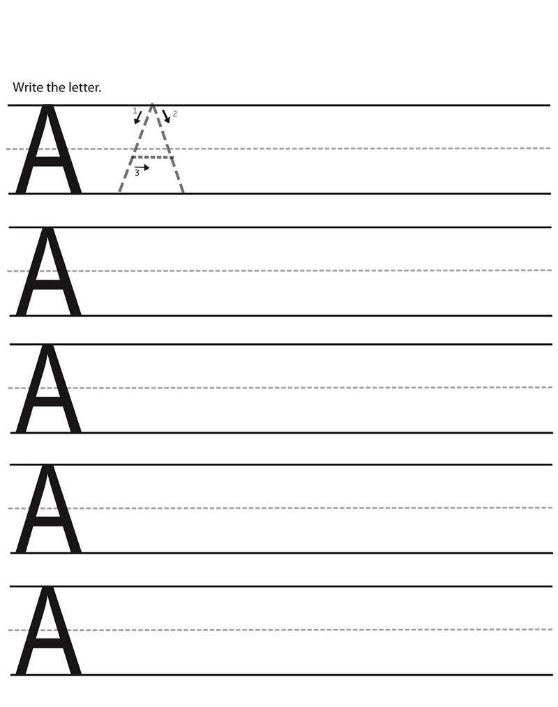 Abc Writing Worksheets For Kindergarten Activity » Printable With Abc Writing Worksheet